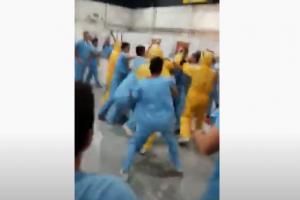 Enfrentamiento en centro de aislamiento para pacientes de COVID-19 en Argentina