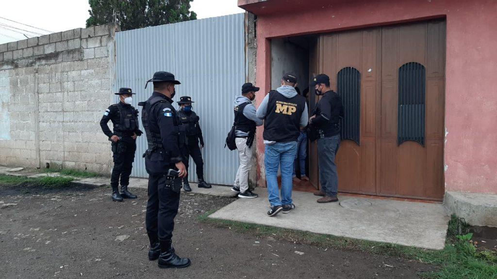 allanamientos en Parramos, Chimaltenango