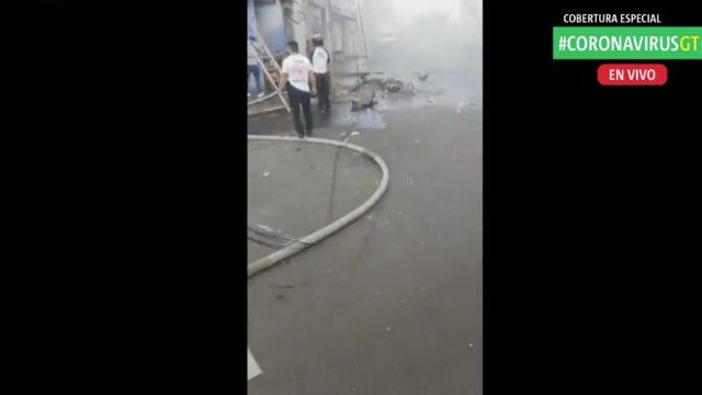 Explosión en venta de gas.