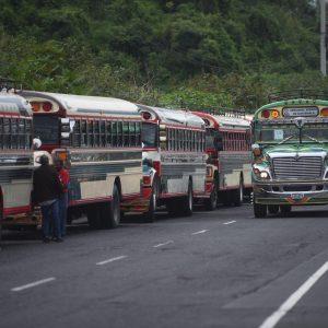 Protesta transporte extraurbano