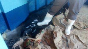 Bolsas de plástico en el Hospital de Coatepeque