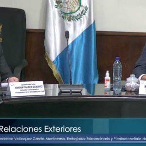Embajador de Perú en Guatemala en el Congreso