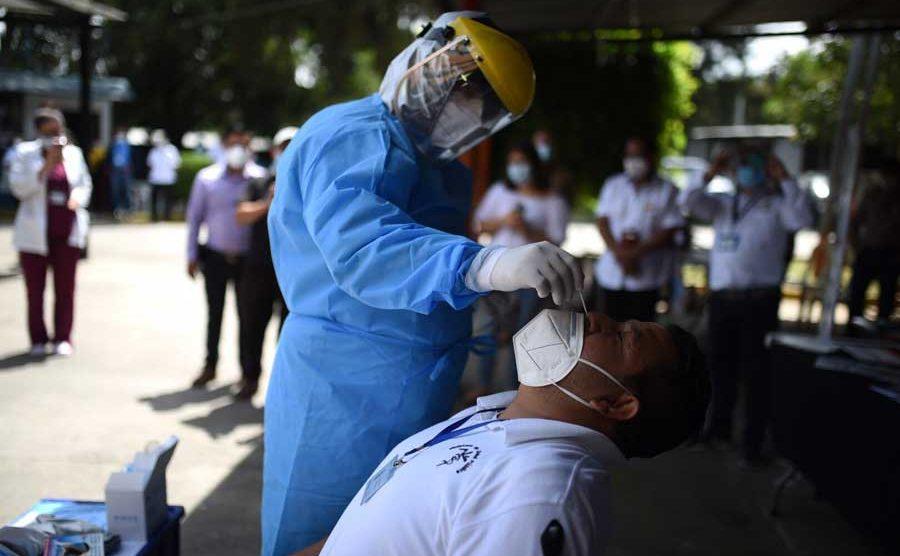 Hisopado del Ministerio de Salud