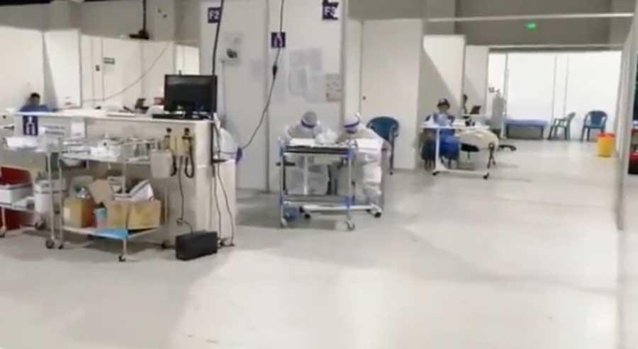 Hospital Temporal Parque de la Industria para la atención de pacientes con COVID-19.