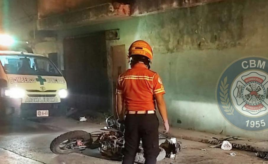 motorista muere en accidente en zona 7 de Mixco