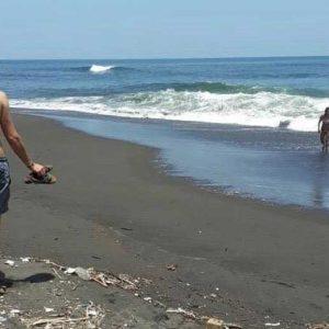 Retiran a bañistas de la playa
