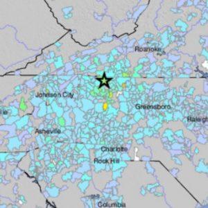 Temblor en Carolina del Norte, 9 de agosto de 2020