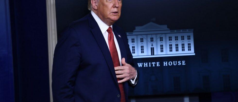 Donald Trump en conferencia de prensa