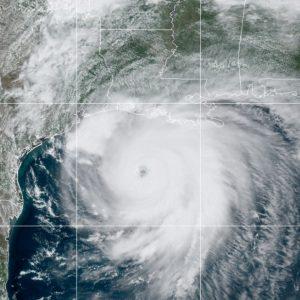 Huracán Laura sobre Luisiana