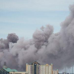 Incendio en planta química en Luisiana, por el huracán Laura
