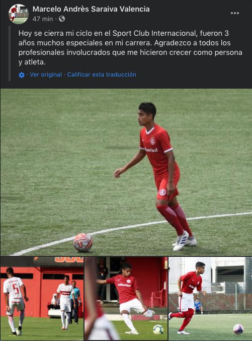 Marcelo Saraiva se despide del futbol brasileño