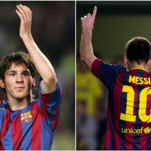 Messi cumple 20 años jugando en el Barcelona
