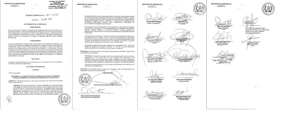 Acuerdo gubernativo 150-2020