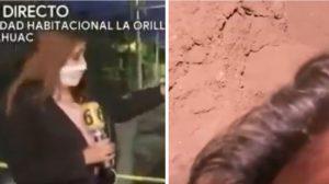 Camarógrafo Ulises cae a socavón en México