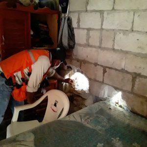 daños por lluvias en Petén