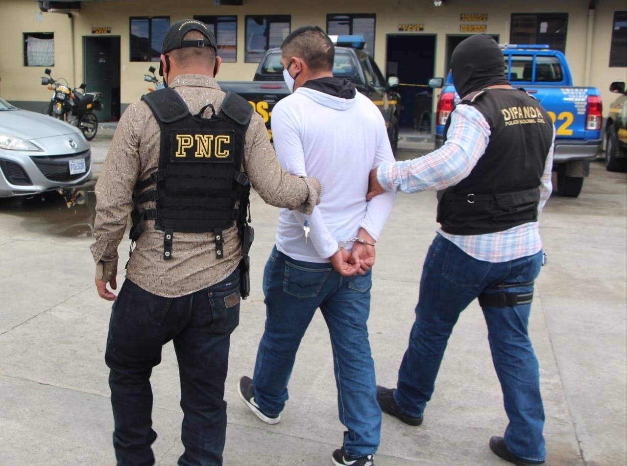 extorsionista capturado en zona 4 de Chimaltenango