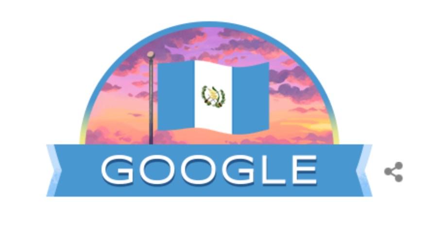 """Google celebra a Guatemala con un """"doodle"""" especial por el 15 de septiembre"""