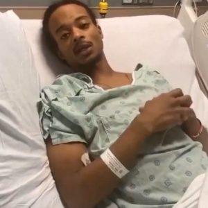 Jacob Blake en el hospital
