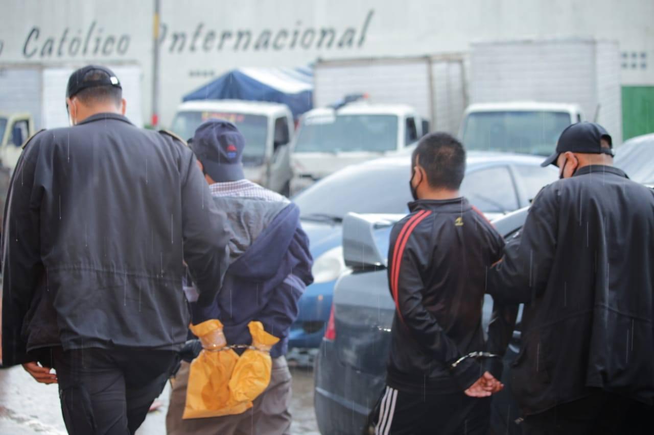 pandilleros capturados por ataque armado en zona 6