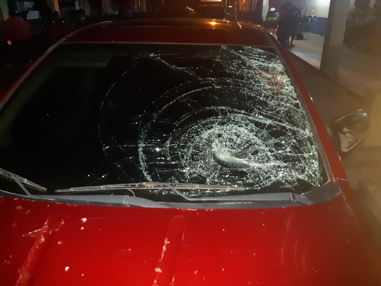 piloto ebrio atropella a agente de PNC en Escuintla