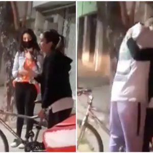Roban bicicleta a repartidor; vecina le regala otra para que siga trabajando