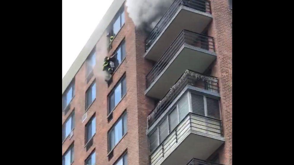 Incendio en un edificio de Nueva York