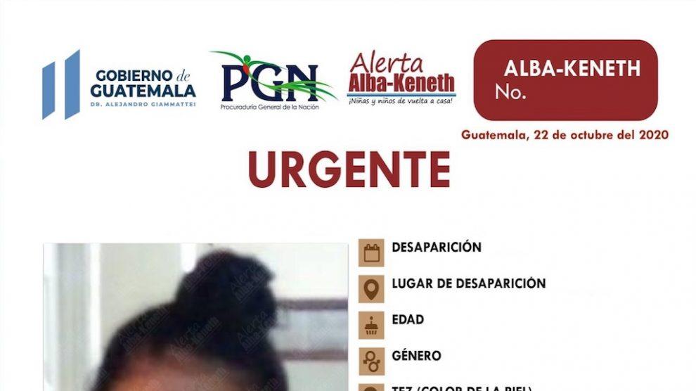 Autoridades alerta Alba-Keneth.