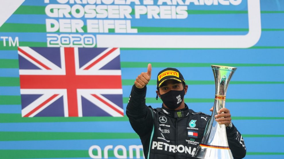 Lewis Hamilton gana el GP de Eifel