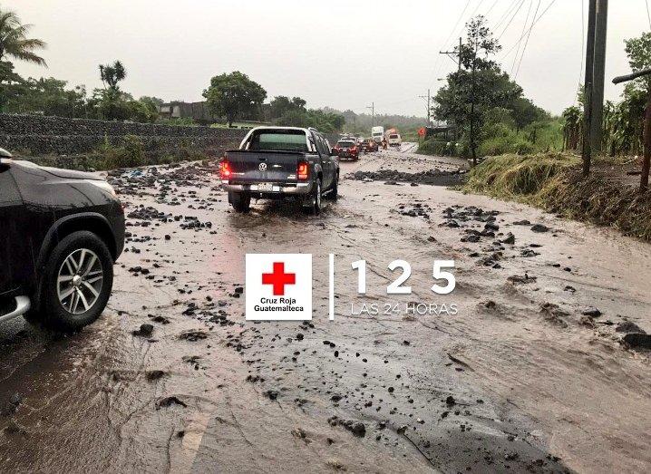 Lluvia causa daños en la RN14.