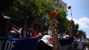 Marcha en conmemoración por la Revolución del 44.