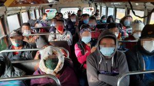 Imponen multa de Q3 mil a conductor de bus.
