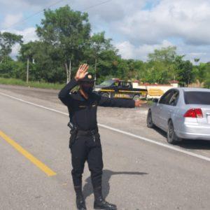 PNC realiza operativo en la frontera con Belice.