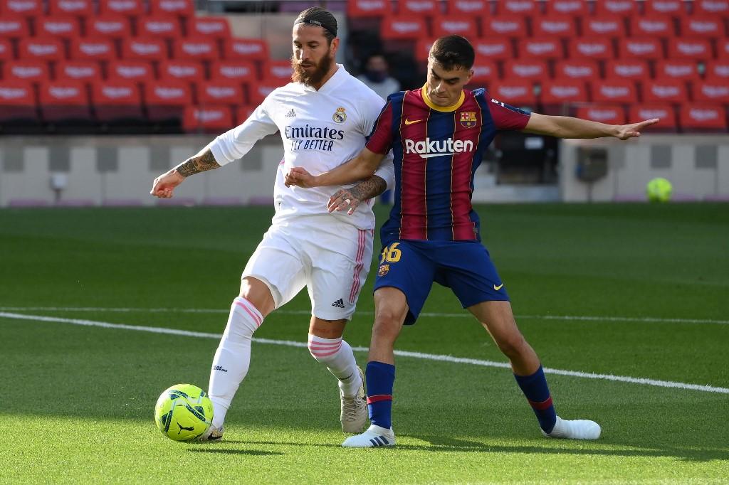 Sergio Ramos anotó un gol en el Clásico