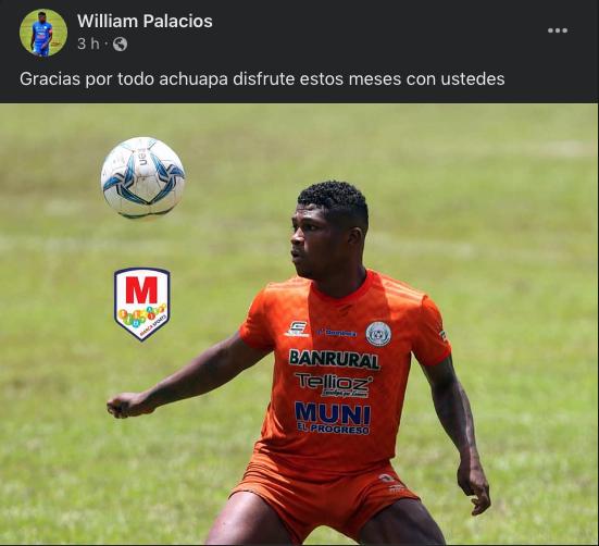 William Palacios se marcha de Achuapa