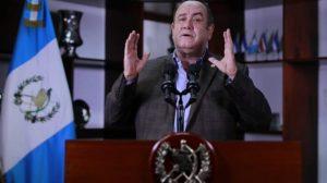 Alejandro Gammattei, presidente de Guatemala.