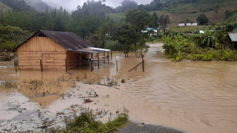 Inundaciones en San Juan Chamelco