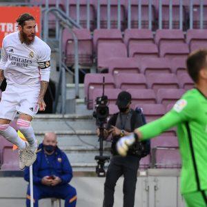 Gol de Sergio Ramos contra el Barcelona