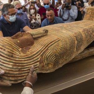 Sarcófagos descubiertos en Egipto