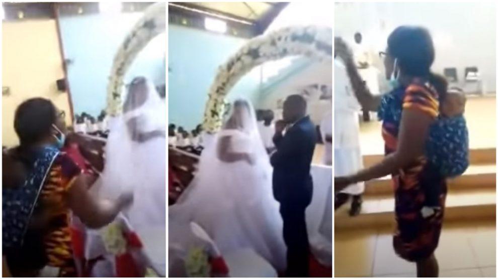 Mujer interrumpe boda diciendo que es la esposa del novio