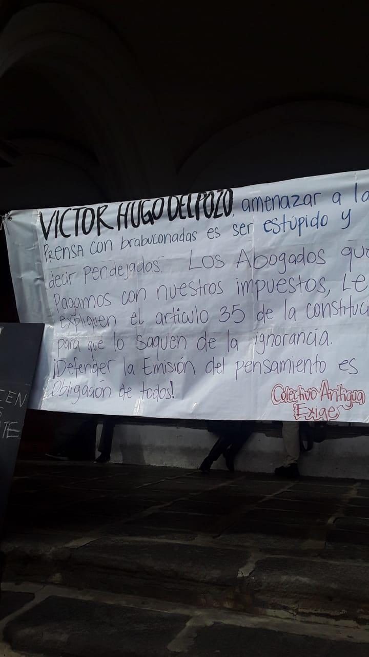 Piden la renuncia de Alejandro Giammattei en la provincia.