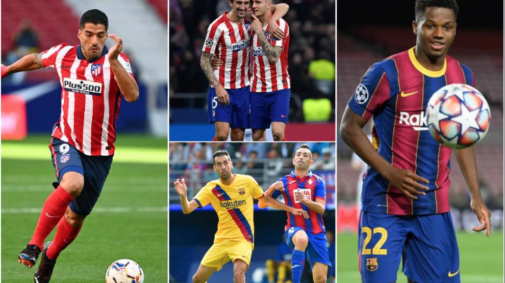Bajas del Atlético de Madrid y Barcelona