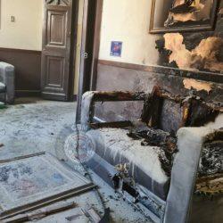 EN IMÁGENES. Manifestantes causan serios daños en el Congreso