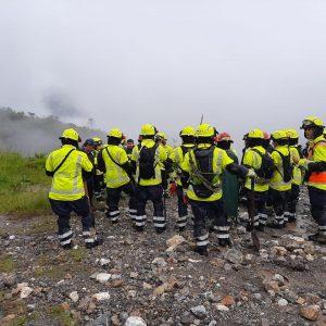 Equipos de rescate acuden al caserío Quejá.