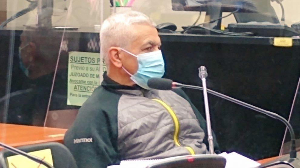 El kaibil Gilberto Jordán en audiencia de apertura a juicio por el caso Dos Erres.