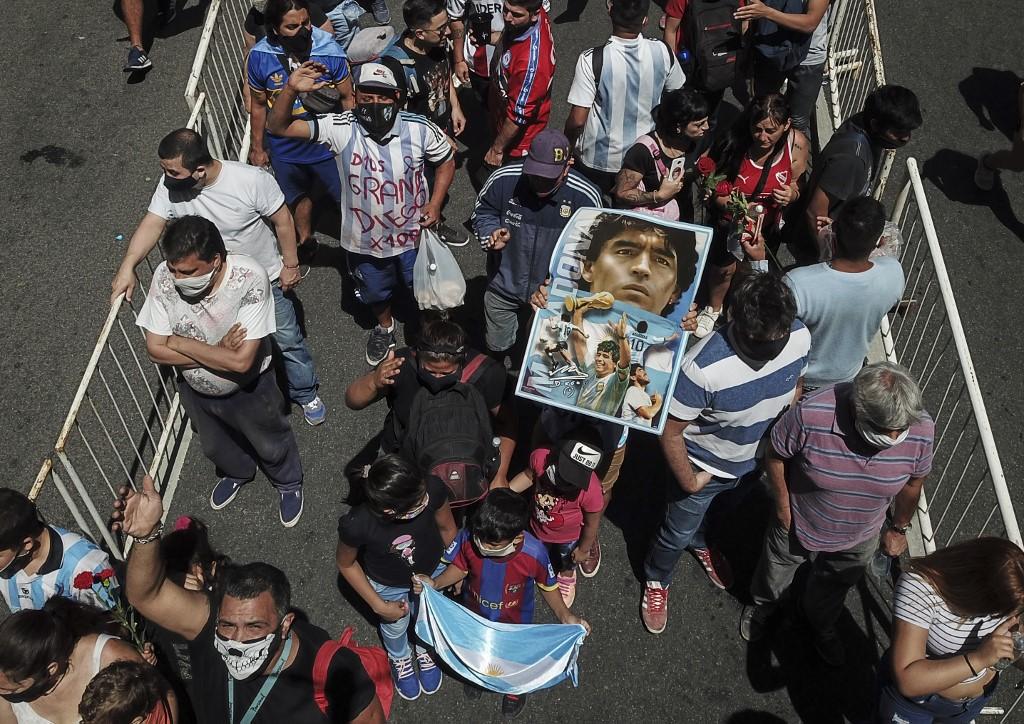 El homenaje póstumo a Diego Maradona