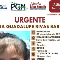 Localiza a niña abandonada y con alerta Alba-Keneth en allanamiento