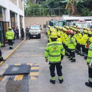 Patrulla de rescate de los Bomberos Municipales Departamentales.