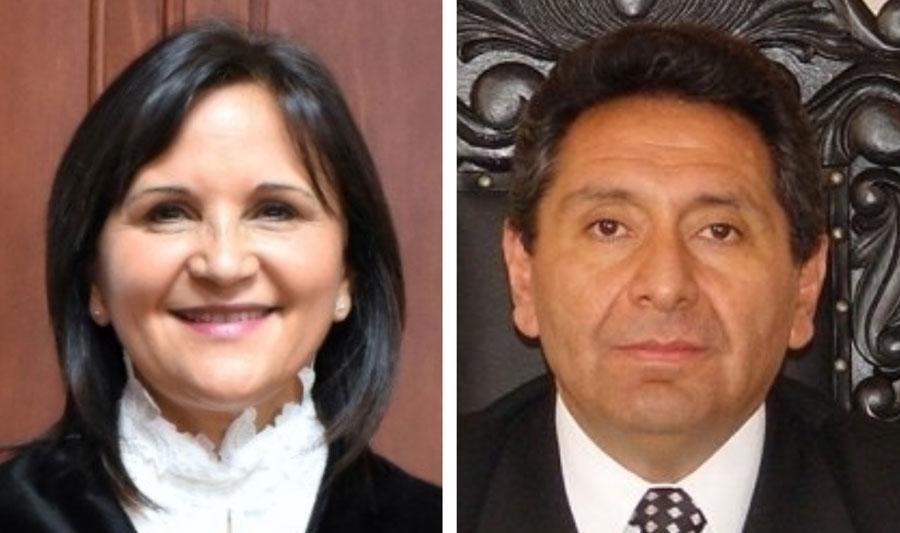 Magistrados Gloria Porras y Francisco de Mata Vela.