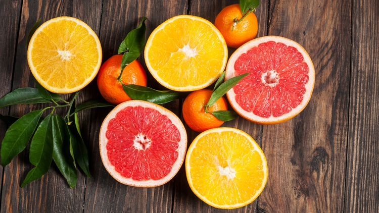 Limón naranja cítrico vitamina c