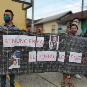 Manifestaciones en Mazatenango